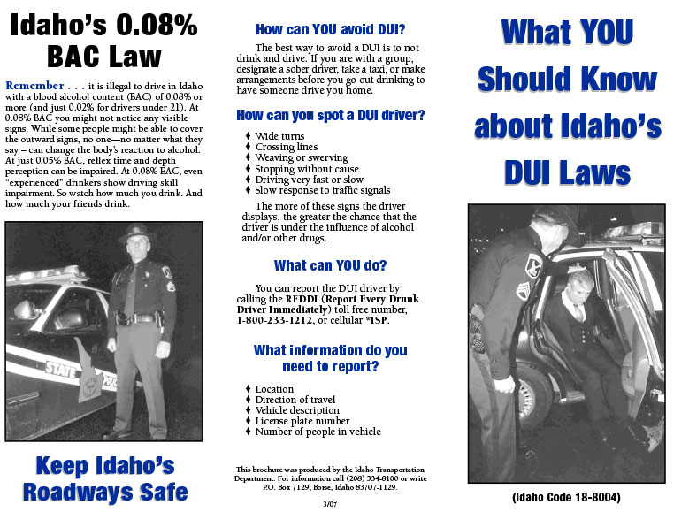 What YOU Should Know About Idaho's DUI Laws - Page 1